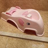可折疊兒童洗頭躺椅寶寶洗頭椅小孩洗頭床加大號嬰兒洗發架可坐躺 polygirl