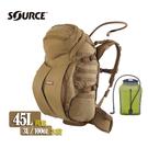 Source DoubleD軍用水袋背包 4010790245 狼棕色 /城市綠洲(以色列原裝進口)