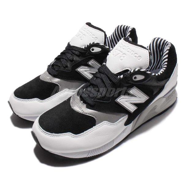 chaussures de sport 2720b 435f4 【四折特賣】New Balance 復古慢跑鞋 NB 878 黑 白 銀 麂皮 休閒鞋 男鞋 女鞋【PUMP306】 ML878NPAD