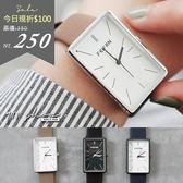 Planet.香港FEIFAN。簡單百搭長方形素面皮革手錶【tc386】*911 SHOP*
