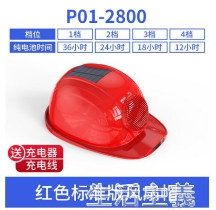 工程帽 太陽能風扇帽子工地安全頭帽盔建筑防曬帽帶雙風扇充電夏通風遮陽 生活主義