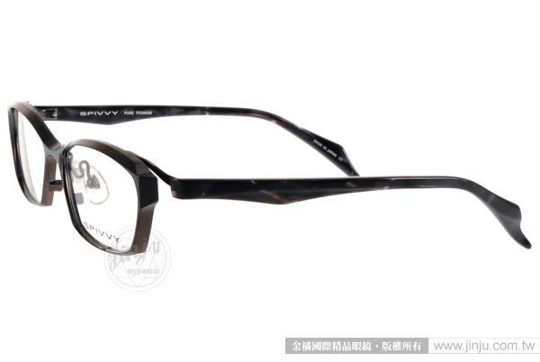 SPIVVY 光學眼鏡 SP1181 IPBK (灰黑) 日本工藝完美質感 # 金橘眼鏡