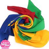 【奢華時尚】秒殺推薦!CHANEL綠黃藍紅四色雙C印花絲質披肩圍巾(八五成新)#23094