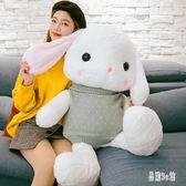 毛絨公仔 兔子毛絨玩具垂耳兔布娃娃可愛大號公仔玩偶少女心禮物女孩aj884『易購3c館』