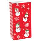 聖誕節 裝飾 佈置 禮物紙袋12入-聖誕雪人