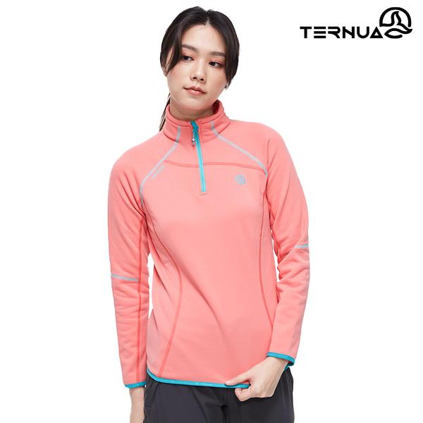 【西班牙TERNUA】女 Power stretch pro 半門襟保暖上衣1206865 / 城市綠洲 (Polartec、刷毛、透氣、快乾)