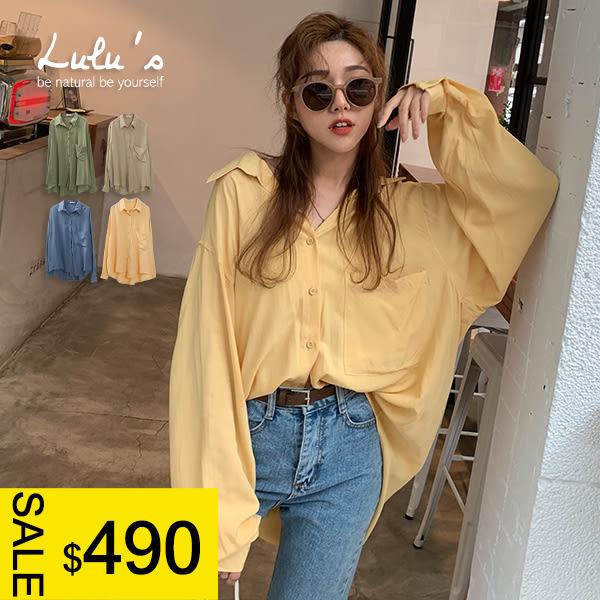 LULUS特價-Y單口袋襯衫-4色  【01190562】
