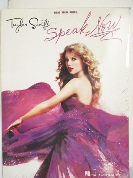 【書寶二手書T7/音樂_I5Y】Taylor Swift Speak Now_Piano Vocal Guitar