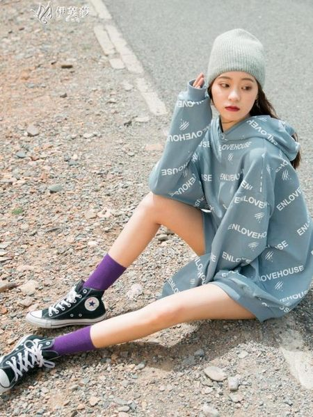 長襪子女中筒襪韓版學院風堆堆襪韓國薄款夏季潮網紅春秋百搭伊芙莎