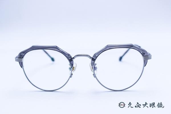 Kaffeine 咖啡因 Martini2 C5 (透灰/銀) 韓國設計 流行框型 近視眼鏡