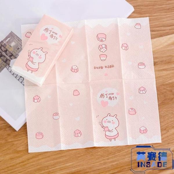 【8包】可愛卡通印花手帕紙便攜式隨身裝衛生紙面巾紙【英賽德3C數碼館】