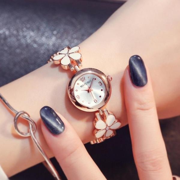 手錶 清新小雛菊花朵手鏈女士手錶女表石英表少女公主小仙女中學生腕表新品來襲