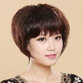 女中老年蓬松自然頭玉米燙卷髪圓臉氣質  ys409『毛菇小象』