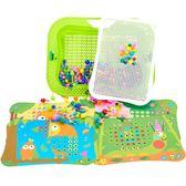 蘑菇釘拼裝插拼圖兒童1-3-6周歲4男孩5幼兒園2女孩寶寶益智力玩具