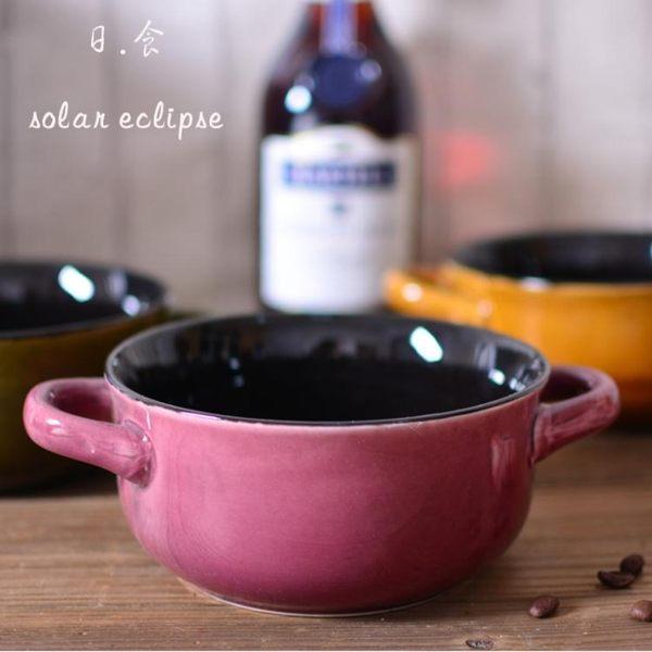 快速出貨 泡麵碗拉麵日式創意陶瓷碗大容量湯碗家用大號碗沙拉雙耳碗