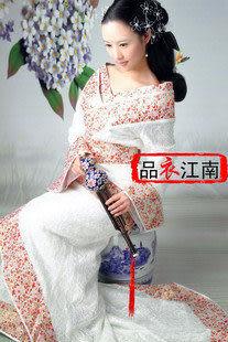 白色蕾絲太平公主/修身經典款漢服/純美顯瘦