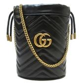 GUCCI 古馳 GG Marmont迷你水桶包 575163 Mini Bucket Bag【二手名牌 BRAND OFF】