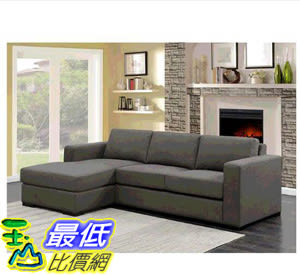 [COSCO代購] W117581 Hometrend L型布沙發 Hometrend Jillian Fabric Sectional