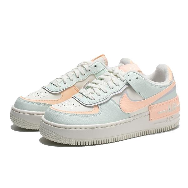 NIKE 休閒鞋 AIR FORCE 1 SHADOW 淡藍粉 解構 馬卡龍 女 (布魯克林) CU8591-104