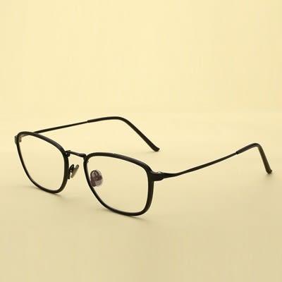 鏡框(方框)-時尚百搭文藝氣質男女平光眼鏡5色73oe29[巴黎精品]