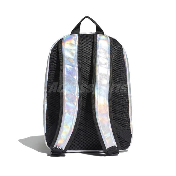 adidas 後背包 Metallic Backpack 銀 黑 男女款 金屬風 運動休閒 【ACS】 FL9631