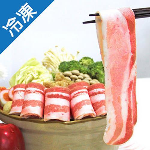 【人氣商品】特選黑豬五花肉片(500g±5%/盒)x3【愛買冷凍】