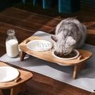 快速出貨貓碗狗碗狗盆寵物雙碗喂食飲水陶瓷護頸狗狗食盆貓糧飯盆貓咪