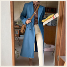 ✦Styleon✦正韓。氣質雙排釦翻領長版羊毛大衣。韓國連線。韓國空運。1211。