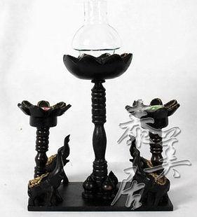 進口工藝品 東南亞風格 木雕擺件 家居飾品 擺設四象燭台