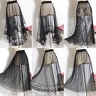 一片裙外搭單層網紗裙透視半身裙女新款秋冬打底裙一層沙罩紗裙子 小艾新品