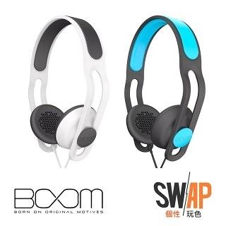 [富廉網] 美國 知名潮流品牌 BOOM The SWAP 玩色防水耳罩式耳機