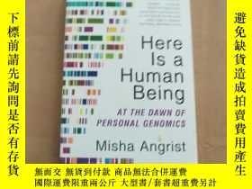 二手書博民逛書店Here罕見Is a Human Being: At the D