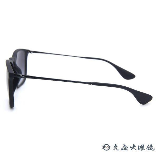 RayBan 雷朋太陽眼鏡 RB4187F (霧黑) 方框 CHRIS 墨鏡 久必大眼鏡