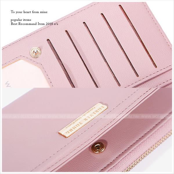 皮夾-韓版大容量票卡手拿長夾-共4色-A08080880-天藍小舖