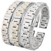 錶帶鋼帶男女不銹鋼錶鍊蝴蝶扣代用浪琴卡西歐天王西鐵城錶帶 三角衣櫃