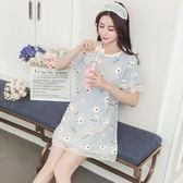 睡裙女夏季短袖純棉韓版可愛兔清新學生可外穿冰絲性感睡衣家居服夢想巴士