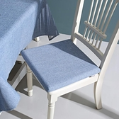 記憶棉仿亞麻餐椅坐墊棉麻透氣簡約現代餐桌椅墊四季椅子墊子