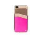 公司貨㊣PEGACASA iphone 7/6S Plus Case F-003X Slim Fit 手機背夾 卡片收納 5.5吋烈焰桃