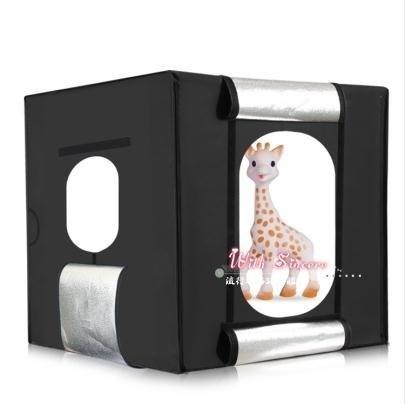 攝影棚 LED40cm小型攝影棚套裝補光拍照迷你柔光箱產品拍攝道具T