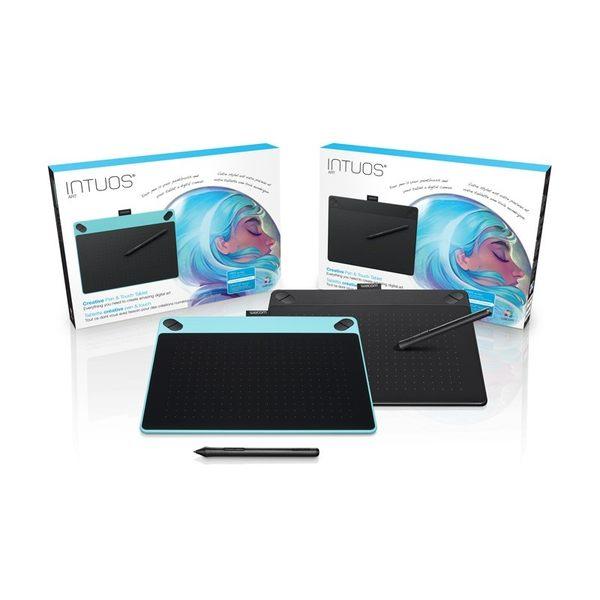 [哈GAME族]可刷卡 送10支筆蕊 Wacom CTH-490 Intuos Art /藝術 創意觸控繪圖板 Small 黑色/藍色