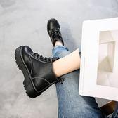 2018秋季新款CHIC馬丁靴女英倫風女鞋短靴女靴子學生百搭馬丁鞋春  莉卡嚴選