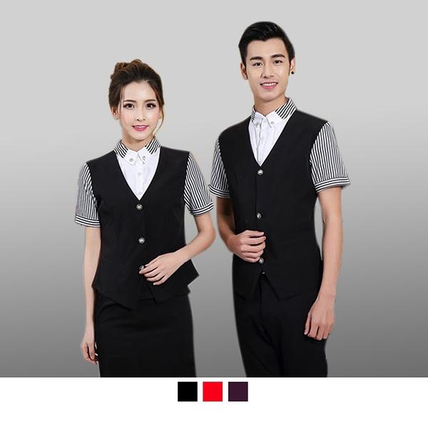 晶輝專業團體制服CH165*夏季西餐廳服務員工裝短袖咖啡快飯店KTV網咖餐飲服裝
