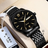 瑞士雙日歷新概念手錶男士機械錶全自動霸氣防水夜光名牌國產手錶 酷男精品館