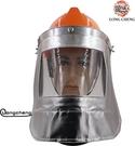 耐高溫防護1000度鋁箔冶煉面罩鋼消防火冶金電焊面罩鍋爐前工隔熱