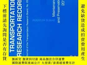 二手書博民逛書店Transportation罕見Research Record (TRR TRB ) NO.2292 2012 運