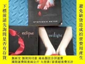 二手書博民逛書店暮光之城英文版4冊全:breaking罕見dawn;new moon;eclipse;twilight(暮色、新月