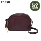 FOSSIL CHELSEA 無花果紫紅色半月型斜背包 ZB7799503