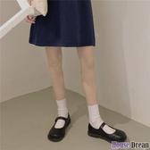 娃娃鞋 ins文藝清新小皮鞋女2020夏學生日系軟妹鞋可愛一字圓頭娃娃單鞋