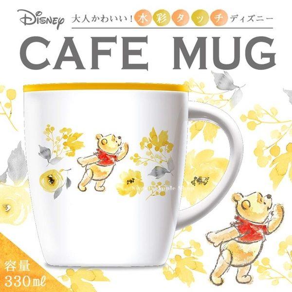 日本限定 迪士尼 小熊維尼 水彩風 真空断熱 2用 保溫杯 / 保冷杯 / 咖啡杯 330ml