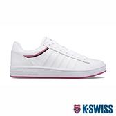 【超取】K-SWISS Court Winston 時尚運動鞋-女-白/桃紅
